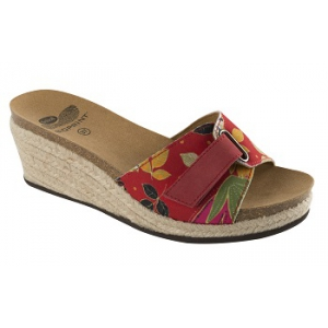 MALTESINA TEXTILE+SUEDE WOMENS RED/FLOWER FANTASY 40