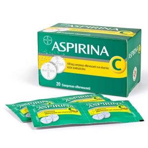ASPIRINA C 400 MG COMPRESSE EFFERVESCENTI CON VITAMINA C 20 COMPRESSE