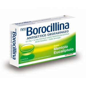 NEOBOROCILLINA ANTISETTICO OROFARINGEO 6,4 MG + 52 MG PASTIGLIE 20 PASTIGLIE