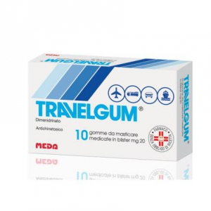 TRAVELGUM 20 MG GOMME DA MASTICARE MEDICATE 10 GOMME