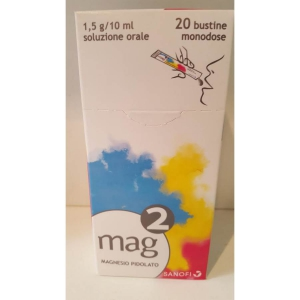 MAG 2 1,5 G/10 ML SOLUZIONE ORALE  20 BUSTINE MONODOSE IN PET/AL/PE DA 10 ML