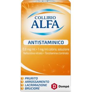 COLLIRIO ALFA ANTISTAMINICO 0,8 MG/ML + 1 MG/ML COLLIRIO, SOLUZIONE FLACONE 10 ML