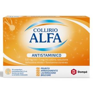 COLLIRIO ALFA ANTISTAMINICO 0,8 MG/ML + 1 MG/ML COLLIRIO, SOLUZIONE 10 CONTENITORI MONODOSE 0,3 ML