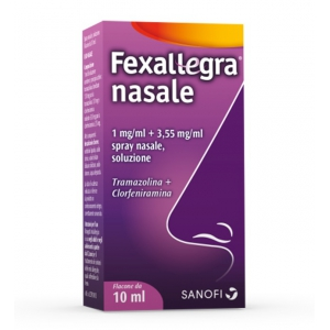 FEXALLEGRA NASALE 1 MG/ML + 3,55 MG/ML SPRAY NASALE, SOLUZIONE 1 FLACONE DA 10 ML