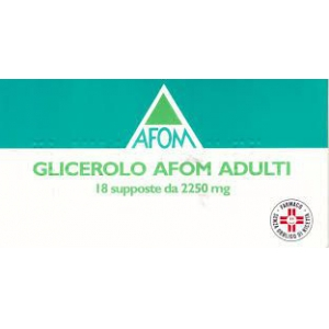 GLICEROLO (AFOM) ADULTI 2,250 G SUPPOSTE 18 SUPPOSTE