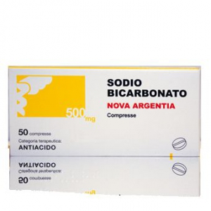 SODIO BICARBONATO (NOVA ARGENTIA) 500 MG COMPRESSE 50 COMPRESSE