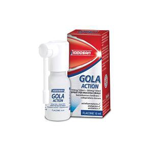 GOLA ACTION 150 MG/100 ML + 500 MG/100 ML SPRAY PER MUCOSA ORALE 1 FLACONE 10 ML
