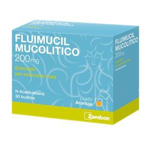 FLUIMUCIL MUCOLITICO 200 MG GRANULATO PER SOLUZIONE ORALE 30 BUSTINE