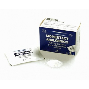 MOMENTACT ANALGESICO 400 MG GRANULATO PER SOLUZIONE ORALE 12 BUSTINE