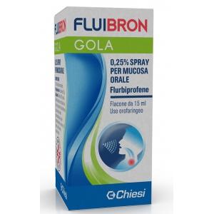 FLUIBRON GOLA 0,25% SPRAY PER MUCOSA ORALE FLACONE DA 15 ML