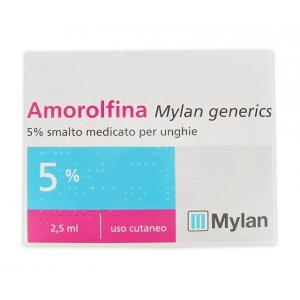 AMOROLFINA (MYLAN GENERICS) 5% SMALTO MEDICATO PER UNGHIE 1 FLACONE IN VETRO DA 2,5 ML