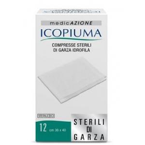 GARZA COMPRESSA IDROFILA ICOPIUMA 36X40CM 12 PEZZI