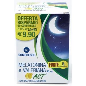 MELATONINA ACT 1MG + VALERIANA + 5 FORTE COMPLEX 60 COMPRESSE