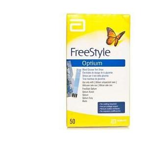 STRISCE MISURAZIONE GLICEMIA FREESTYLE OPTIUM TEST STRIPS 25 PEZZI