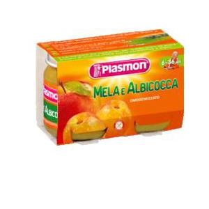 PLASMON OMOGENEIZZATO MELA ALBICOCCA 2 X 104 G