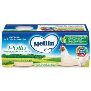 MELLIN OMOGENEIZZATO POLLO 2X120 G
