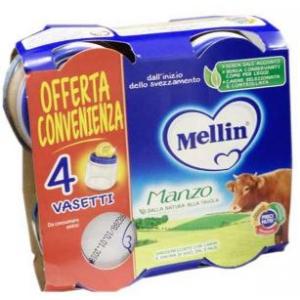 MELLIN OMOGENEIZZATO MANZO 4X80 G