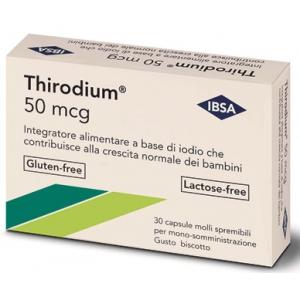 THIRODIUM 50MCG 30 CAPSULE SPREMIBILI MONO-SOMMINISTRAZIONE 7,54 G