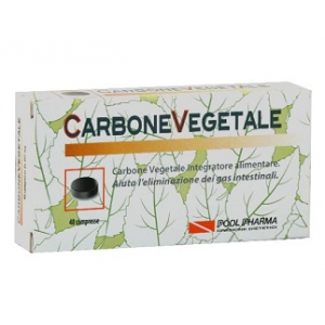 CARBONE VEGETALE POOL PHARMA 40 COMPRESSE