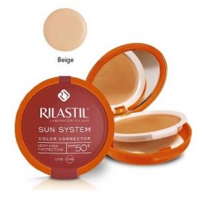 RILASTIL SUN SYSTEM PHOTO PROTECTION THERAPY SPF50+ COMPATTO BEIGE 10 ML
