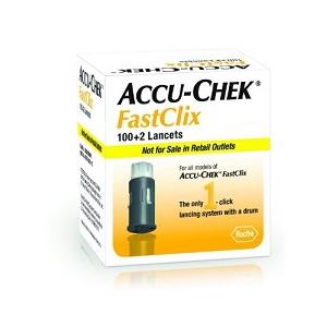 LANCETTE PUNGIDITO ACCU-CHEK FASTCLIX 100 + 2 PEZZI
