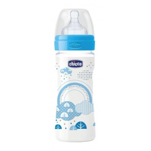 CHICCO BIBERON WELL BEING IN POLIPROPILENE BOY DA 250 ML MEDIUM SILICONE ITA