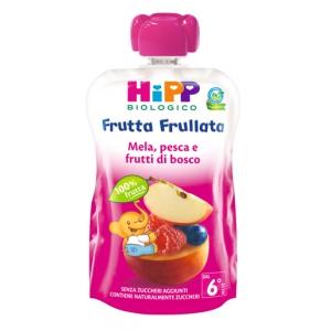 HIPP BIO FRUTTA FRULLATA MELA PESCA FRUTTI DI BOSCO 90 G