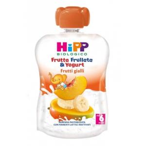 HIPP BIO FRUTTA FRULLATA YOGURT FRUTTI GIALLI 90 G