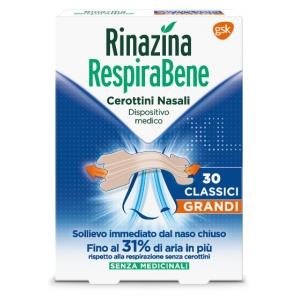 RINAZINA RESPIRABENE CEROTTI NASALI CLASSICI GRANDI CARTON 30 PEZZI