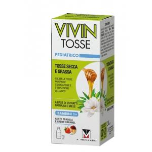 VIVIN TOSSE PEDIATRICO SCIROPPO PER TOSSE SECCA E GRASSA GUSTO FRAGOLA E CREME CARAMEL 150 ML