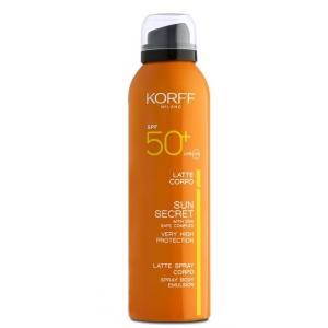 KORFF SUN SECRET LATTE SPRAY CORPO SPF50+ 200 ML