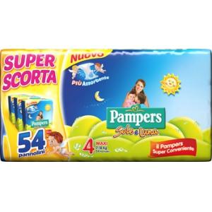 PAMPERS SOLE&LUNA TRIO MAXI 54 PEZZI