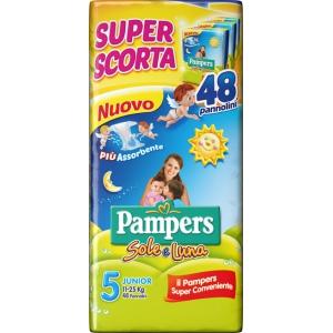 PAMPERS SOLE&LUNA TRIO JUNIOR 48 PEZZI