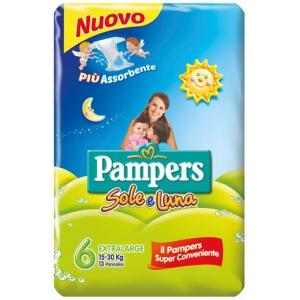 PAMPERS SOLE E LUNA XL 13 PEZZI
